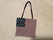 Patriotic American flag seed beaded red white blue PURSE SHOULDER BAG Beautiful!