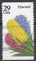USA Briefmarke gestempelt 29c Hyacinth Blume aus Markenheft / 173