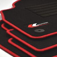 Mattenprofis Velours Logo Fußmatten für VW Up ab Bj. 08/2011 - Heute rot