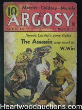 Argosy Sep 15,  1934 A.Merritt, Talbot Mundy,Jimmie Cordie Cvr