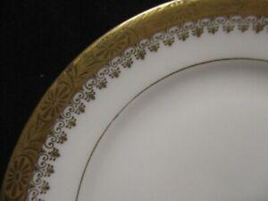 "BUCKINGHAM Royal Ivory KPM 5 ¾"" BREAD & BUTTER PLATES  ~ Minty set of 4"