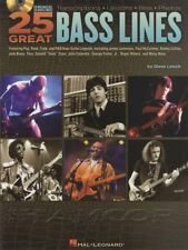 25 Great Bass Lines Guitar TAB Music Book with CD Paul McCartney Flea Jack Bruce