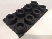 Speaker Vibration Isolation Stick On Round Rubber Feet pack of 8, 22mm *10mm