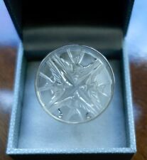 $520 Lalique Message Bague Size 8 SWALLOW Crystal Sterling Ring Mint in Box