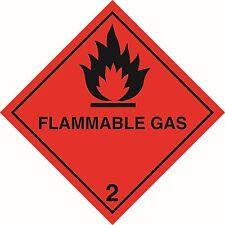 Health and Safety Hazard Sticker Flammable Gas 2 Sticker Red