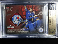 2016 Topps Now #539E Blue Jays Wild Card Win 4/10 Game Used Base 9.5 BGS Card