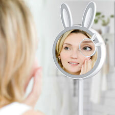 Rabbit Make Up Mirror Magnifying Table Lamp with LED Light Touch USB Charge