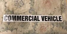 """Commercial Vehicle Decal 28"""" X 3"""""""