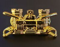US Army Military ARMORED Cavalry Engineer Corps Officer's Castle Insignia Pin