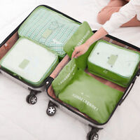 6x Travel Storage Bag Foldable Clothes Packing Cube Luggage Organizer Waterproof