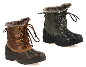 NEW LADIES SNOW WINTER WATER RESISTANT MUCKER THERMAL WELLINGTONS FUR BOOTS SIZE
