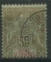 French Colonies, Cote d'Ivoire, Ivory Coast 1900 Michel 17 used
