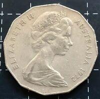 1972 AUSTRALIAN 50 CENT COIN