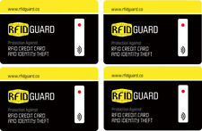RFID Blocking Card 4 Cards Anti RFID Scanning Theft Credit Card Fits in Wallet