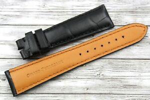 Cinturino GIRARD PERREGAUX Nero Vera Pelle Coccodrillo 20/16mm Elegante Nuovo