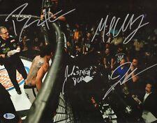 Michael Chandler Benson Henderson Jimmy Smith +1 Signed 11x14 Photo BAS Bellator