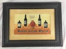 More details for rare vintage burton cream sherry, old oloroso, advertising, marstons, breweriana