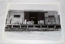 Photograph Print classic railroad freight building /workers 14 x 11 artistic