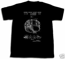 ROGERS DYNASONIC SNARE DRUM PATENT SHIRT M Med Medium NEW Joe Thompson Tshirt !!