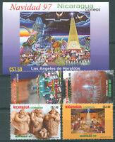 NICARAGUA Yv # 2249 D/G + Bl 272 A Complete Set MNH VF
