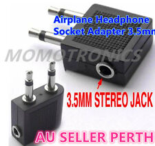 Airline Airplane Headphone Socket Travel Adapter/Converter Audio/Stere3.5mm Jack
