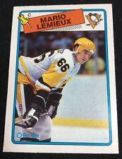 1988-89 OPC #1 Mario Lemieux Pittsburgh Penguins HOF