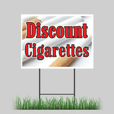 "12""x18"" Discount Cigarettes Yard Smoking Tobacco Cigars Smoke Brand Store Sign"