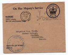 The Armouries H.M. Tower of London Cachet on Official paid envelope O.H.M.S.