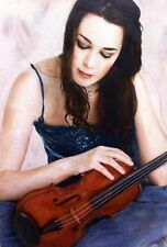 WILLIAM OXER ORIGINAL CANVAS  Girl with Violin Woman Violinist Music PAINTING