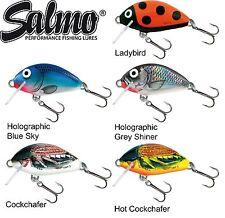 5 Salmo Tiny 3cm 2,5g sinkend Miniwobbler, Raubfischköder zum Spinnfischen,
