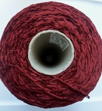 Large Cone Of Chenille Yarn  (2 #12oz.)  Garnet Red   New, Old Stock