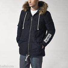 Adidas STREETWEAR ESSENTIAL PARKA Hoody Sweat Shirt Coat Winter Jacket~Men sz XL