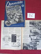 revue L'Automobile N° 26  avril 1948 ; Grand Prix de PAU , Wimille , Delahaye..