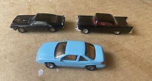 Three 1:87 Model Cars  1957 Chevy,  Pontiac Firebird and Grand Prix, Praline