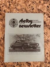 Shelby Cobra Owners Association Newsletter April 1974 New MINT Rare