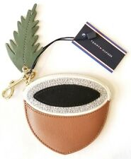 Tommy Hilfiger leather Acorn coin purse key/chain/ring zipper/zip closure wallet