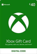 Microsoft Xbox Live £40 GBP UK Gift Card Points Pounds For Xbox 360 / Xbox One