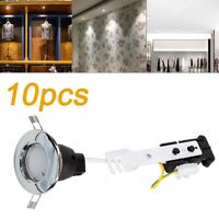 10x Modern Fixed Chrome LED GU10 Downlights Recessed Ceiling Spot Lights