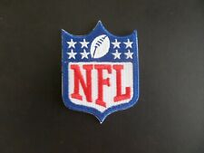 """NFL FOOTBALL LOGO"""" WHITE & BLUE EMBROIDERED IRON ON PATCHES  2-1/4 X 3"""