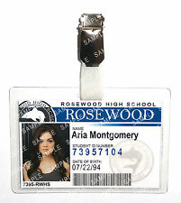 Pretty Little Liars Aria Montgomery ID Badge Cosplay Prop Costume Gift Comic Con