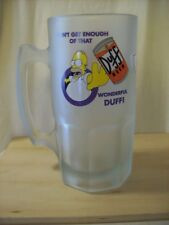 THE SIMPSONS Frosty Beer Mug GLASS Can't Get Enough Of That Wonderful Duff HOMER