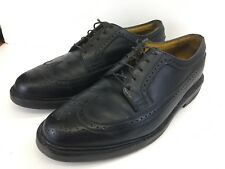 Vintage Florsheim Imperial Kenmoor Black Brogue Wingtip 92604 Men's Size 9 EEE
