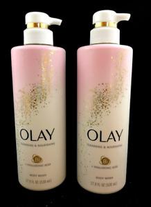 x2 Olay Premium Body Wash Nourishing Hyaluronic Acid 17.9 fl oz (PACK OF 2)