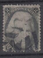USA Scott #73  2 cent  Andrew Jackson black     F