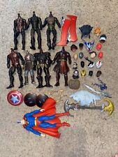 marvel legends dc multiverse fodder head lot Red Skull Superman Black Panther