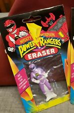 LAVENDER Power Rangers Eraser *SEALED 1993 - New in Package