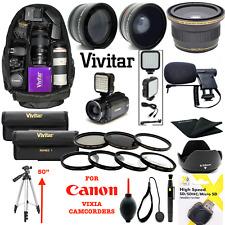 Canon VIXIA HF R800  GIANT HD ACCESSORIES KIT BACKPACK TRIPOD MICROPHONE LENSES