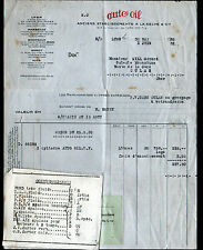"""LYON (69) HUILES & GRAISSES """"Sté AUTO-OIL / anciennement A. LA SELVE & Cie"""" 1932"""