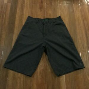 Billabong Black Casual Mens Chino Walking Button Zip Shorts Size 32