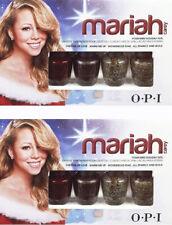 OPI Polish Mariah Carey 4 Mini Holiday Hits. Set of TWO. Perfect Holiday Gifts.